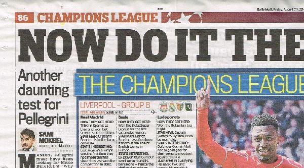 İngiliz Basını, Galatasaray'ın Şampiyonlar Ligi'ndeki Grubunu Değerlendirdi