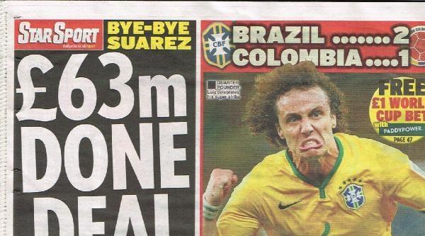 İngiliz Basınına Göre Suarez'in Barcelona'ya  Transferi  Konusunda Taraflar Anlaştı