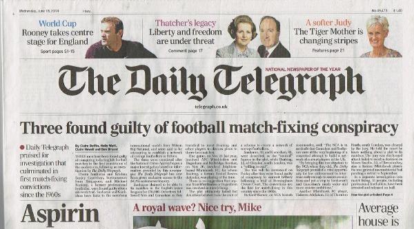 İngiltere'de Üç Sanık Futbolda Şike Komplosu Yapmaktan İlk Defa Suçlu Bulundu