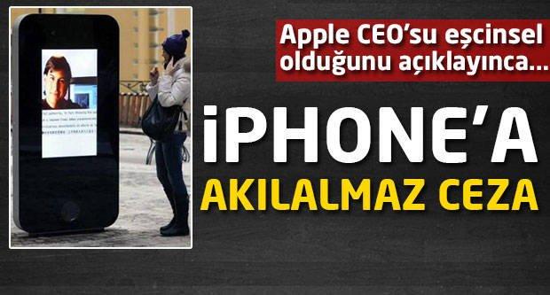 İPhone'a ''Gay'' cezası!
