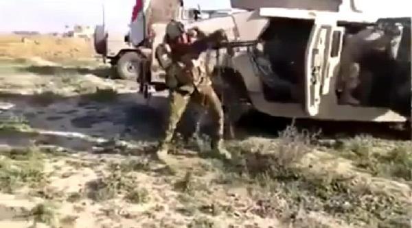 Irak Askeri Keskin Nişancı Tarafından Böyle Vuruldu