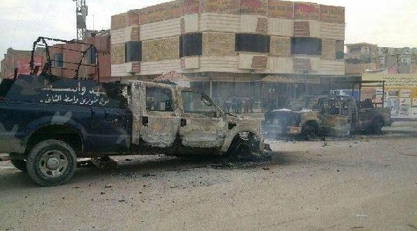 Irak'ta 5 Polis Merkezi Ateşe Verildi