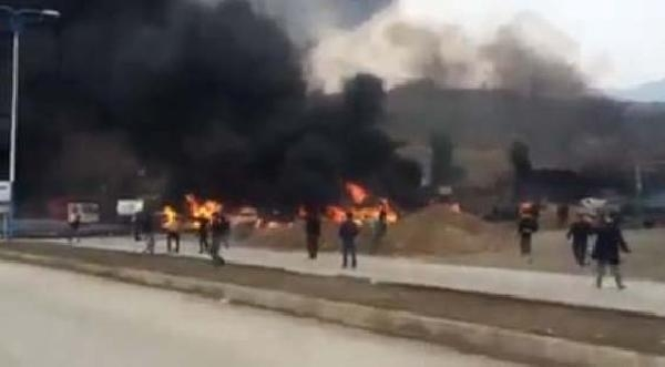 Irak'ta Petrol Tankerleri Peş Peşe Patladi, Facia Ucuz Atlatildi
