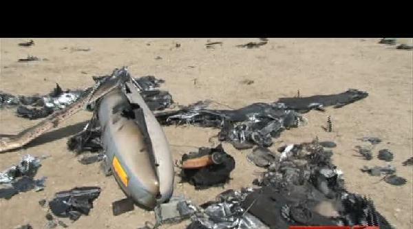 İran Düşürdüğü İsrail Uçağının Görüntülerini Yayınladı