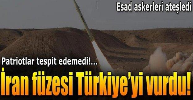 İran füzesi Türkiye'yi vurdu!