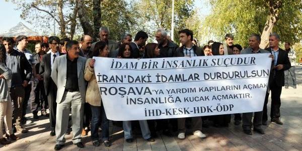 Iran'daki Idamlar Gaziantep'te Protesto Edildi