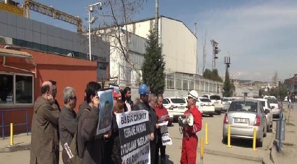 İş Kazasında Ölen İşçi İçin Tersane Önünde Basın Açıklaması