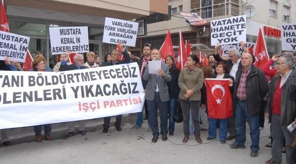 Işçi Partisi'Nden, Nato Önünde Barzani Tepkisi