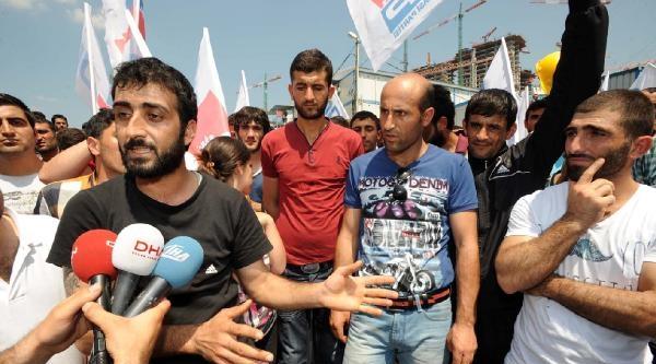 İşçinin Öldüğü Şantiyede Protesto