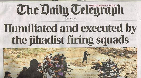 Işid İnfazlari İngiliz Basınının Manşetlerinde