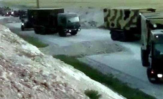 IŞİD Türk kamyonlarının fotoğraflarını paylaştı...