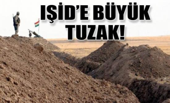 IŞİD'e karşı hendekler kazıldı!