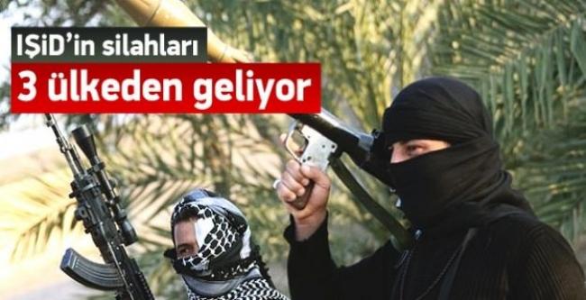 IŞİD'in silahları üç ülkeden