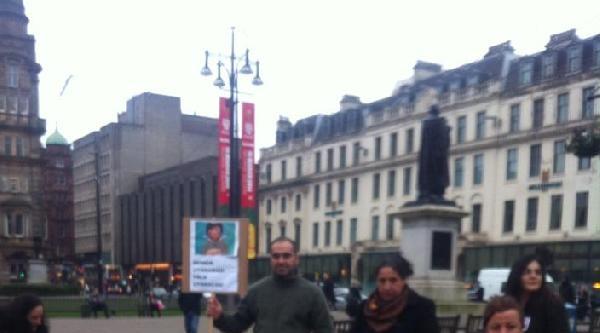 İskoçya'da Berkin Elvan Protestosu