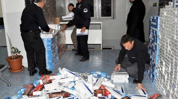 Islahiye'de 7 Bin 700 Paket Kaçak Sigara Ele Geçirildi