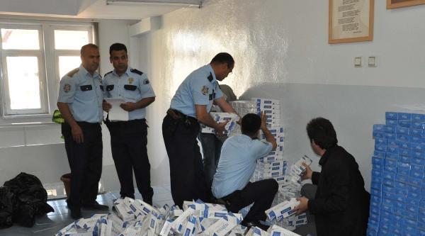 İslahiye'de Kaçak Sigaraya 2 Gözaltı