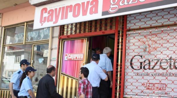 İşletme Ruhsatı İşlemleri Süren Çayirova Gazetesi Binasına Zabıtadan Mühürleme Girişimi