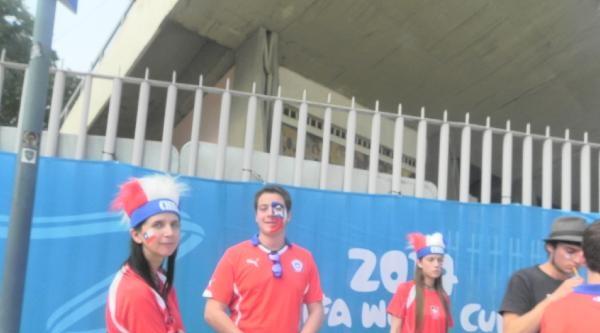 İspanya - Şili Maçı Öncesi Taraftar Atışması