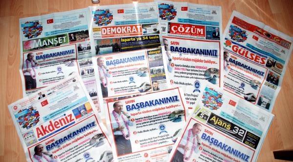 Isparta'da 17 Yerel Gazeteden Ortak Manşet