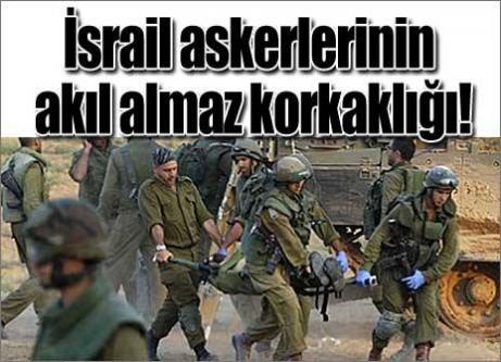 İsrail askerleri savaşmamak için...