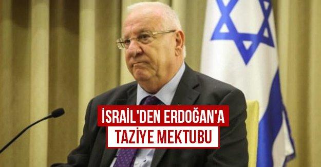 İsrail'den Erdoğan'a taziye mektubu