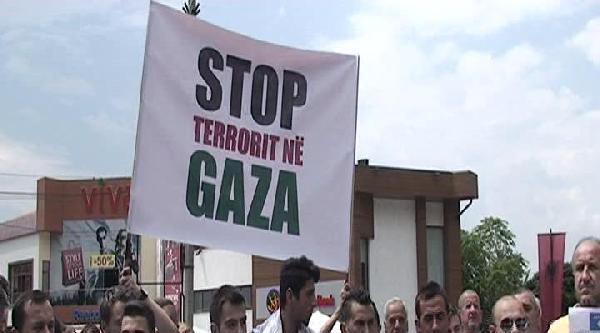 İsrail Kosova'da Protesto Edildi