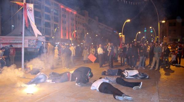 İsrail'i Protesto Yürüyüşü Sırasında Bomba Paniği