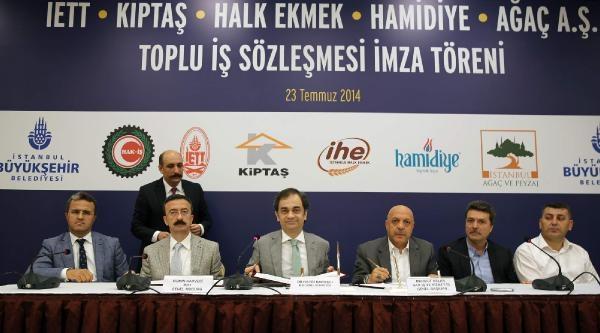 İstanbul Büyükşehir Belediyesi'nde Toplu Sözleşme İmzalandi