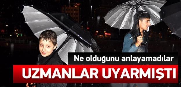 İstanbul için beklenen yağış başladı