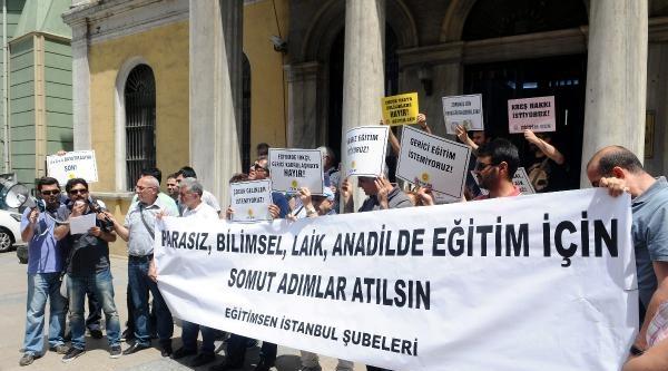 İstanbul İl Milli Eğitim Müdürlüğü Önünde Karne Öncesi Protesto