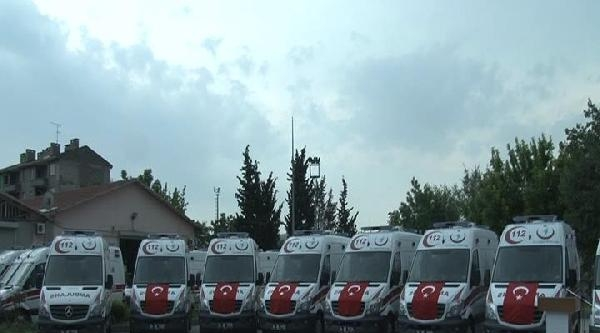 İstanbul Sağlık Müdürlüğü Filosuna 30 Yeni Ambulans Katıldı