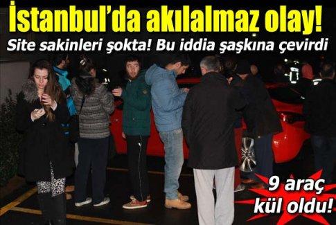 İstanbul Üsküdar'da dehşet! 9 otomobili yaktı