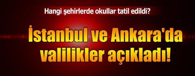 İstanbul ve Ankara'da bugün okullar tatil mi? Ankara Valiliği'nden açıklama