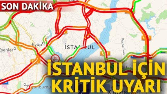 İstanbul'a önemli uyarı: Toplu taşımayı kullanın
