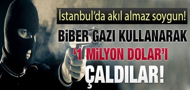 İstanbul'da 1 milyon dolarlık soygun...