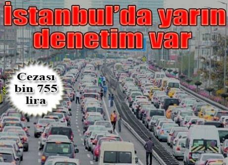 İstanbul'da egzoz gazı denetimi