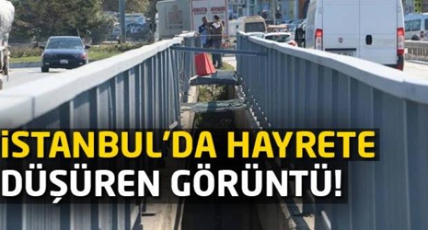 İstanbul'da hayrete düşüren görüntü!