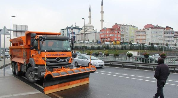 Istanbul'da Kar Hazirliklari