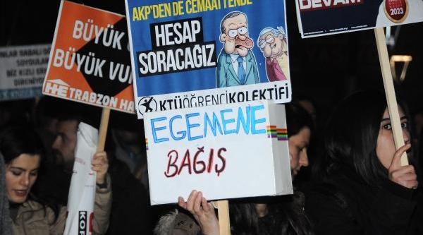 Istanbul'Daki Yolsuzluk Olayin Trabzon'da Tepki Eylemi