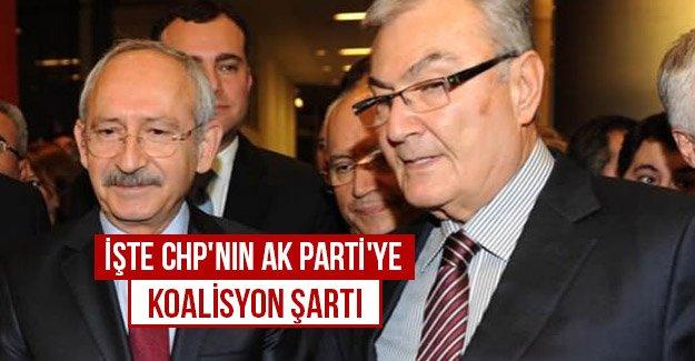 İşte CHP'nin Ak Parti'ye koalisyon şartı