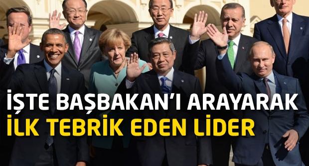 İşte Erdoğan'ı arayarak ilk tebrik eden lider...