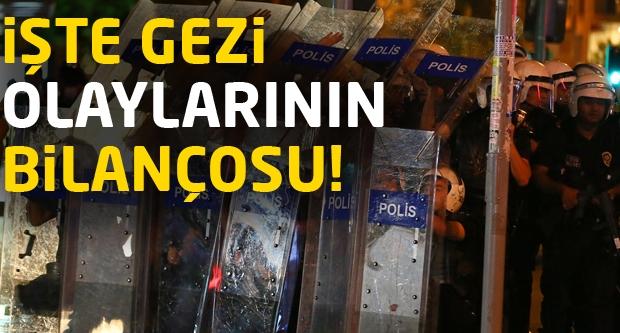 İşte Gezi'nin bilançosu...