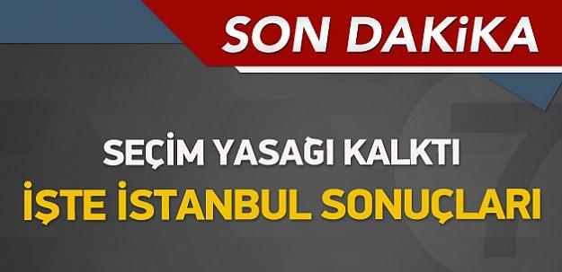İşte İstanbul'dan ilk sonuçlar