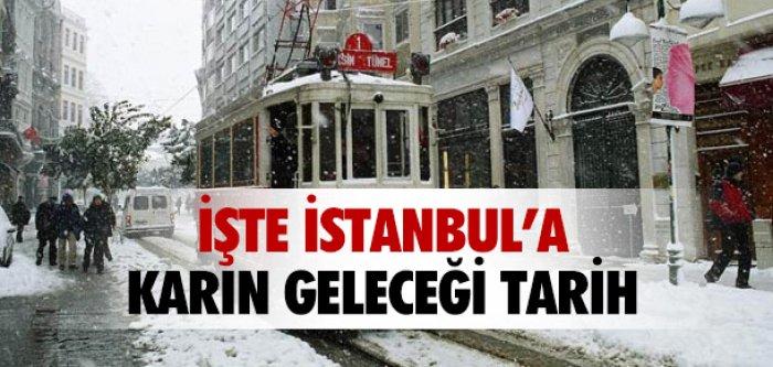 İŞTE İSTANBUL'A KARIN GELECEĞİ TARİH