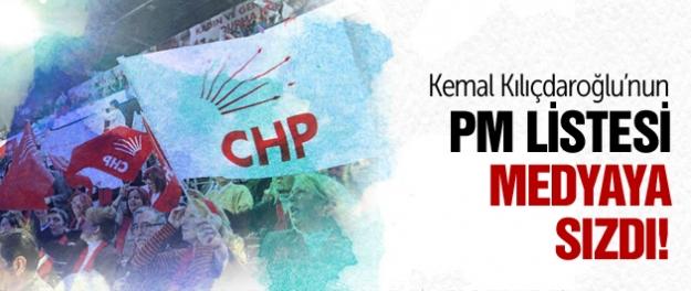 İşte Kılıçdaroğlu'nun PM listesi!
