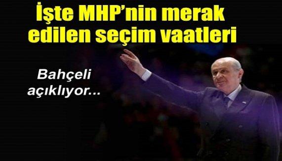 İşte MHP'nin merak edilen vaatleri...