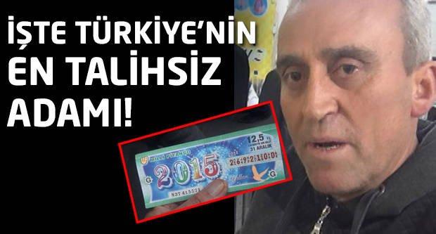 İşte Türkiye'nin en talihsiz adamı!