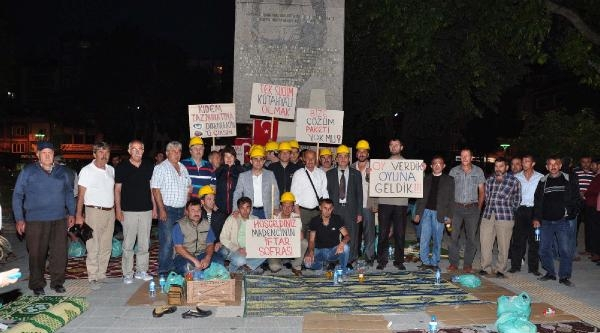 İşten Atılan Arkadaşları İçin Eylem Yapan 576 Linyit İşçisi İşten Atıldı (2)