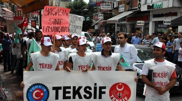 İşten Çikarilan Tekstil İşçilerinin Eylemi