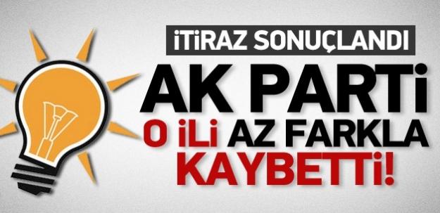 İtiraz sonuçlandı AK Parti o ili kaybetti!